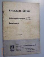 Ersatzteilliste für Schleuderdüngerstreuer D025 D025-1 Aufsattelgerät Ausgabe 65