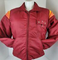 Vintage Roffe Snowboard Ski Outerwear Red Nylon Jacket Coat Men's Large USA