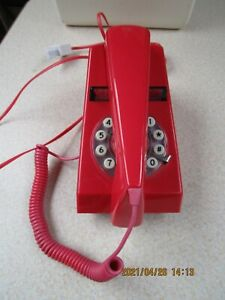 Wild & Wolf Red TrimPhone Retro Corded Push Button phone telephone