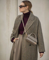 ZARA HOUNDSTOOTH WOOL BLEND COAT Size S RRP £96 BNWT BLOGGERS FAVE