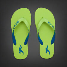 NWT Hollister Men's Classic Flip Flops Green Size L Large. Great Deal!
