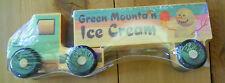 Wooden SEMI Truck Green Mountain Ice Cream Snowman USA Made TOY Brand New
