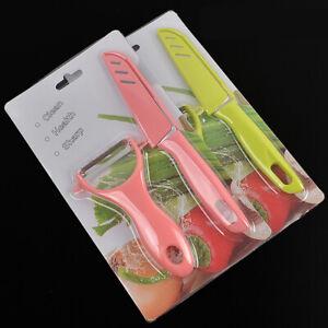 Set of 2 Stainless Steel Potato Fruit Vegetable Peeler Sharp Knife Steak Knives