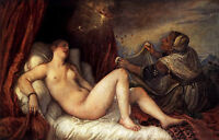 Dream-art Oil painting Tiziano Vecellio - Danae and the Shower of Gold no framed