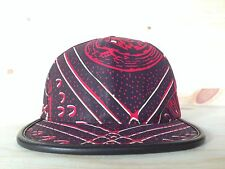 SUPREME CAIRO FIVE 5 PANEL HAT SNAPBACK BURGUNDY RED LEATHER CAMP CAP BOX LOGO