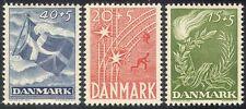 Denmark 1947 Liberation/Rail/Railway/Flag/Flame/Torch/Military 3v set (n40997)