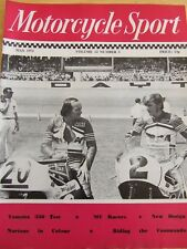 MOTORCYCLE SPORT MAGAZINE MAY 1971 YAMAHA 350 TEST MV RACERS NORTONS IN COLOUR