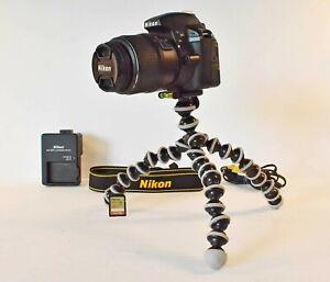 Nikon D D3300 24.2MP Digital SLR Camera AF-S DX VR 18-55mm Lens - Black