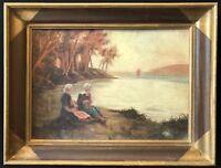 Peintre de Pont-Aven XIXe ou début XXe impressionnisme impressionniste Bretagne