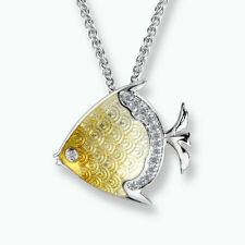 Yellow Sterling Silver Fine Diamond Necklaces & Pendants