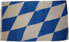 Bandiera Baviera ROMBI 90 x 150 cm con 2 Occhielli per alzato hissflagge BANDIERA FLAG