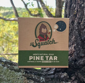 Dr. Squatch Pine Tar Soap - 5oz Free Shipping