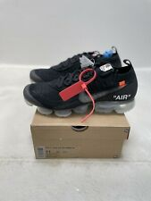 Nike x Off-White Air Vapormax / Black/Clear-TotalOrange / Size 11 / DS Brand New