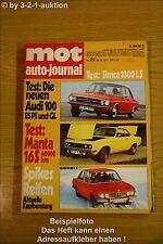 MOT 22/71Audi 100 Opel Manta 16 S DB 350 SLC Fiat 128