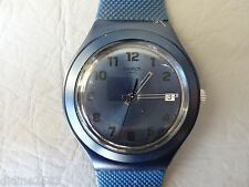 SWATCH MONTRE BRACELET IRONY BIG ALU BLEU BLUE EFFECT YGN4002 HOMME MAN WATCH