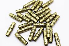 Antique Bronze Tribal Pattern Thin Long Tube Bead Bohemian Ethnic DIY 25mm 20pcs