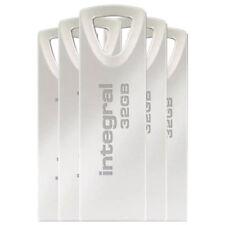 Integral 32GB Arc USB Flash Drive Memory Stick Pen Thumb  - 5 Pack New