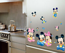 Mickey Mouse Minnie Vinyl Art Wall Stickers Decals Mural Kids Room Home Decor UK