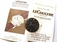lecoultre futurematic black dial with gold markers  🇨🇭