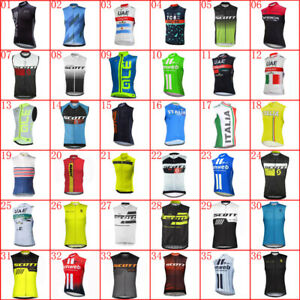 Mens Cycling Jersey Bicycle Vest Summer Sleeveless Team Bike Shirts Sport Tops