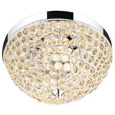 Crystal Light Fixture 3 Lights Flush Mount Ceiling Lamp Living Room Hallway Home