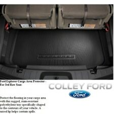 FORD EXPLORER  2011-18 OEM 3rd Row Black Cargo Area Protector Mat Liner NEW