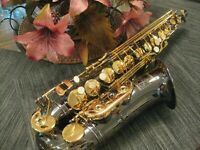Woodwind & Brasswinds Alto Saxophone, Minty Fresh! Black & Gold, Selmer C Star!!