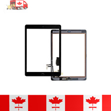 iPad 5 Black Touch Screen Digitizer, Home Button, Adhesive & Tempered Glass
