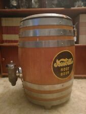 Vintage Neslitt's root beer keg barrel Soda dispenser