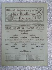 1945 - WEST HAM UTD v LEICESTER CITY PROGRAMME - FOOTBALL LEAGUE SOUTH - 45/46