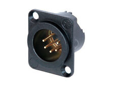 Neutrik NC5MD-LX-B 5 PIN Male XLR Black Chassis Connector Socket D Type