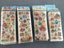 Angry Birds Stickers  party supplies loot bags buy 5 get 5 free  NEW birthdays