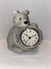 """Second Nature Design 2000 Quarry Critters Stone Polar Bear """"Father Time"""" - 5.5"""""""
