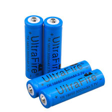 4pcs UltraFire 18650 Battery Rechargeable Batteries 3000mAh 3.7v Li-ion Cell Bat