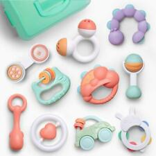 10pcs Baby Toys Rattles Set, Infant Grasping Grab Toys, Spin Shaking Bell Musica