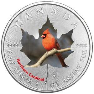 Kanada - 5 Dollar 2017 - Maple Leaf - Northern Cardinal (1.) - 1 Oz Silber ST