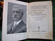 ANTICO LIBRO:MASTRO DON GESUALDO VERGA 1934 (RILEGATO)