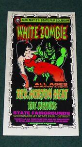 WHITE ZOMBIE THE MELVINS DETROIT 1995 ORIGINAL CONCERT POSTER PRINT KEVIN SYKES