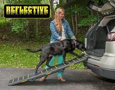 "NEW! Pet Gear Travel Lite Tri-Fold Reflective Dog / Pet Ramp 71"" Long  TL9371RF"