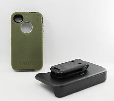 OtterBox Defender Rugged Hard Case w/Holster Clip for iPhone 4 4S Military Green