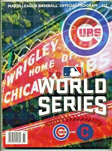 2016 WORLD SERIES PROGRAM CHICAGO CUBS VS. CLEVELAND INDIANS - MLB WRIGLEY FIELD