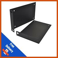 2 x 3u Rack Mounting Bracket - Steel - Black Powder Coated | Sold in Pairs