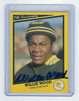 PACKERS Willie Wood signed SB I card HOF AUTO AUTOGRAPHED Super Bowl I Green Bay