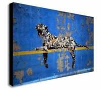 Banksy Bronx Zoo Leopard Modern Wall Art Canvas Print Framed ~ Many Sizes