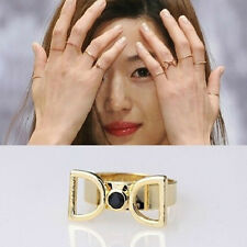 NUOVO Knuckle Plain Banda Nail Midi Finger Ring TOP stacking a uk-double D Anello