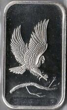 1 Oz Silvertowne Eagle Silver Bullion ingot .999 bar.