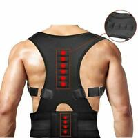 Back Posture Magnetic Shoulder Corrector Support Brace Belt Therapy Men Women