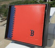 NEW COACH Boston Red Sox 3 In 1 wallet 58376 baseball stitch leather ID gift box