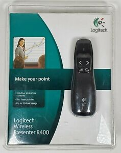 NEW SEALED Logitech r400 Wireless Presenter 910-001354 Black Free Boxed Shipping