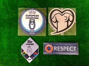 OFFICIAL PLAYER ISSUE EURO 2016 CHAMPIONS + UNL WINNER 2019 PORTUGAL Patches